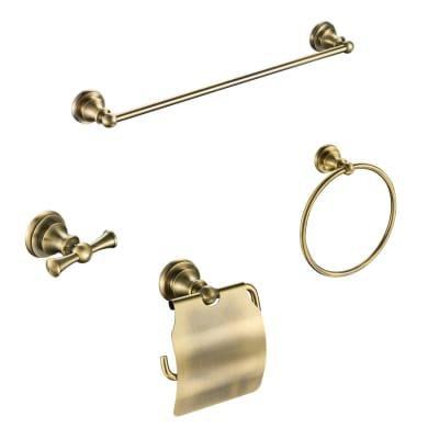 Set accessori di fissaggio giallo / dorato lucido in ottone