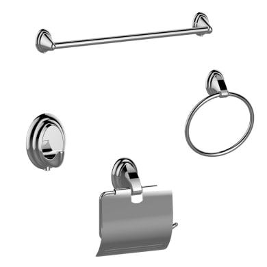 Set accessori di fissaggio grigio / argento lucido in metallo