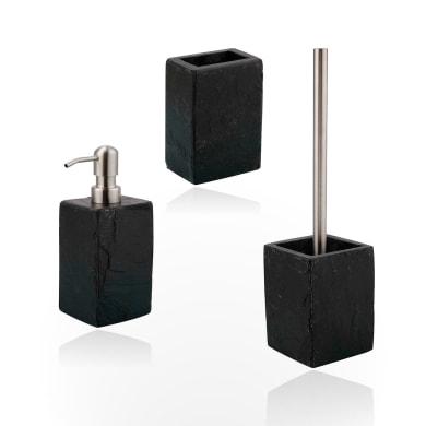 Set di accessori per bagno Stone grigio scuro in pietra , 3 pezzi