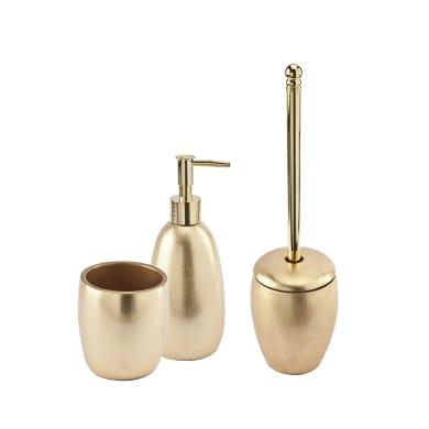 Set di accessori per bagno Gold gold in resina , 3 pezzi