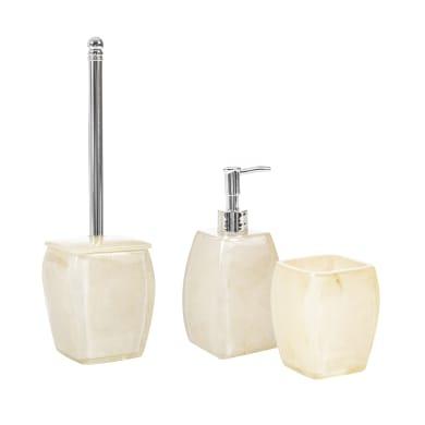 Set di accessori per bagno Denim blu in ceramica , 3 pezzi