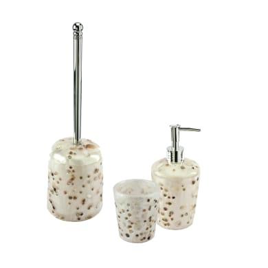 Set di accessori per bagno Antille bianco perla in resina , 3 pezzi