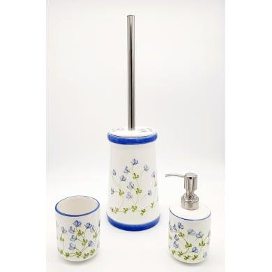 Set di accessori per bagno Decoro bianco in ceramica , 3 pezzi