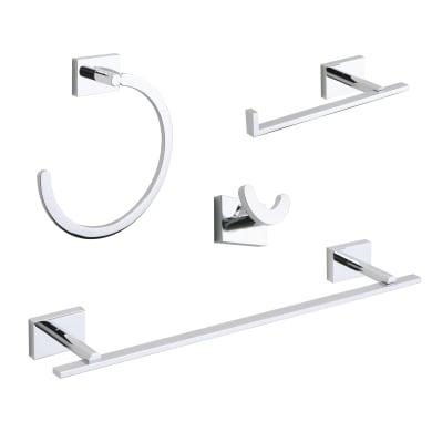Set accessori di fissaggio grigio / argento cromato in metallo