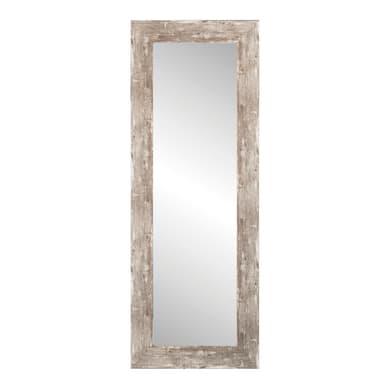 Specchio con cornice a parete rettangolare Nivala beige