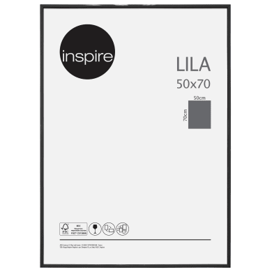 Cornice INSPIRE Lila nero per foto da 50x70 cm