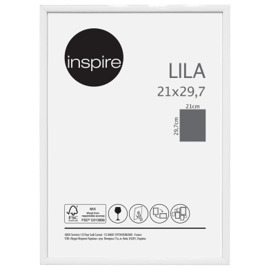 Cornice INSPIRE Lila bianco per foto da 21x29.7(A4) cm