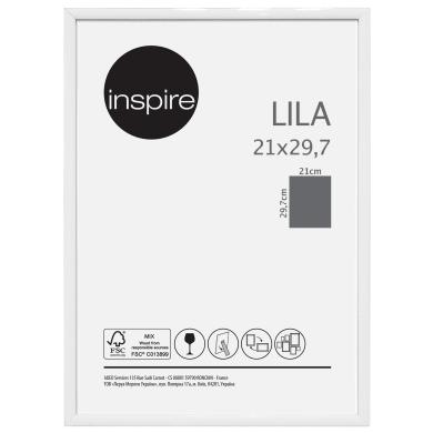 Cornice INSPIRE Lila bianco per foto da 21x29.7 (A4) cm