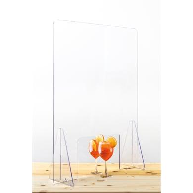 Schermo di protezione acrilico trasparente 80 cm x 80 cm, Sp 0.5 mm