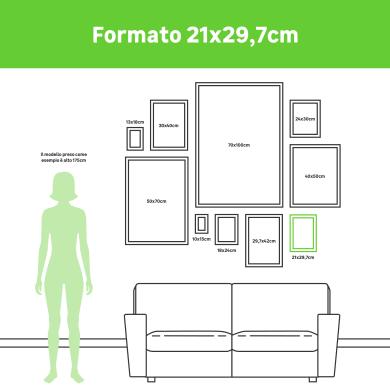 Cornice INSPIRE Anya naturale per foto da 21x29.7 (A4) cm