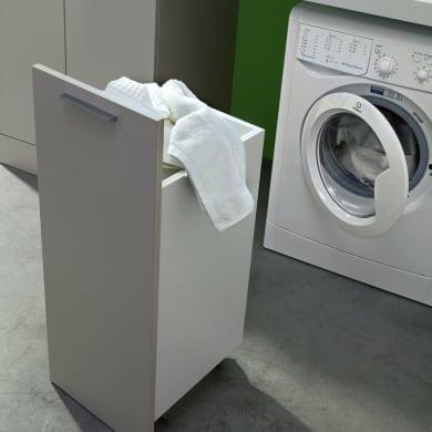 Mobile lavanderia bianco L 35 x P 37 x H 88 cm