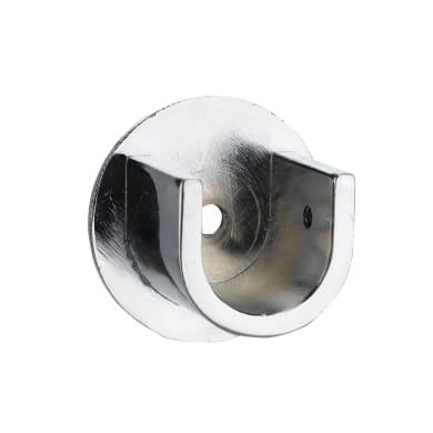 Supporto rosetta Ø20mm Nilo in alluminio cromo lucido4.5 cm, 2 pezzi