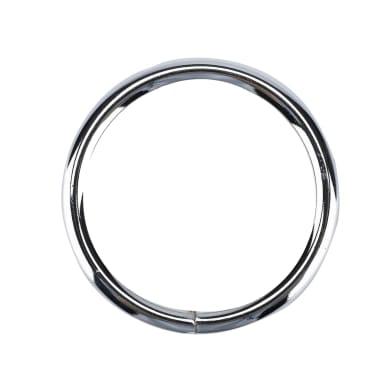 Anelli Ø20mm in metallo cromo lucido INSPIRE, 10 pezzi