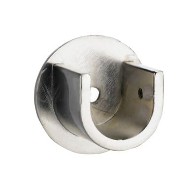 Supporto nascita Ø20mm Nilo CS in acciaio cromo spazzolato4.5 cm