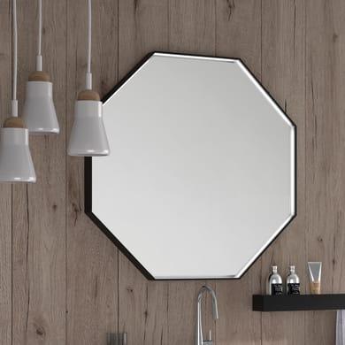 Specchio non luminoso bagno ottagonale VELVET L 80 x H 80 cm