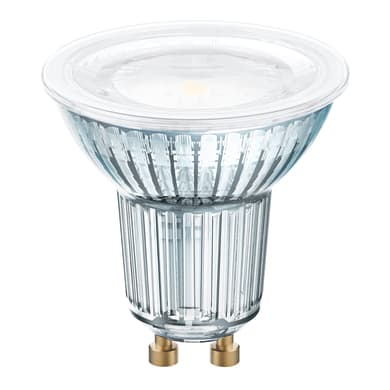 Lampadina LED, GU10, Faretto, Trasparente, Luce calda, 6.5W=575LM (equiv 80 W), 120° , OSRAM
