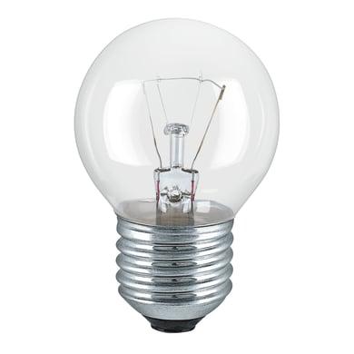 Lampadina Alogena, E27, Sferico, Trasparente, Luce calda, 25W=180LM (equiv 25 W), 320° , OSRAM