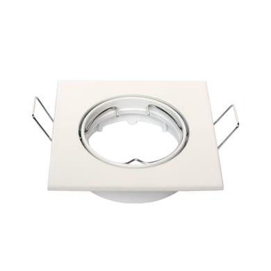 Ghiera per faretto da incasso orientabile quadrato Clane  in Alluminio bianco, 8.2xGU10 IP23 INSPIRE