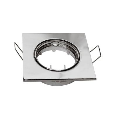 Ghiera per faretto da incasso orientabile quadrato Clane  in Alluminio argento, GU10 MAX0W IP23 INSPIRE