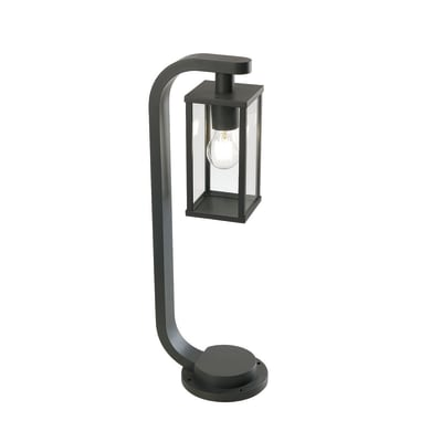 Lampioncino Aurea H60 cm in alluminio, nero, E27 1x MAX 60W IP54
