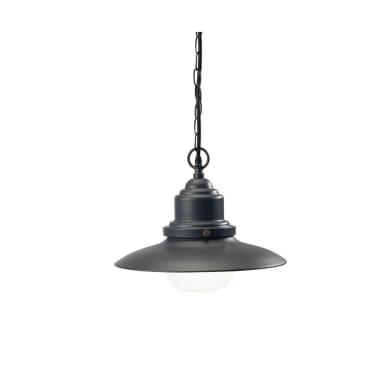 Sospensione Fisher in alluminio, grigio, E27 MAX60W IP44