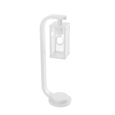 Lampioncino Aurea H60 cm in alluminio, bianco, E27 1x MAX 60W IP54