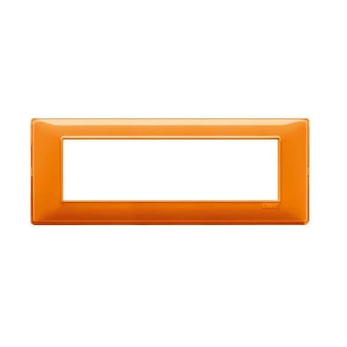 Placca Plana VIMAR 7 moduli arancio