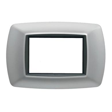 Placca Flexì life FEB 3 moduli alluminio chiaro
