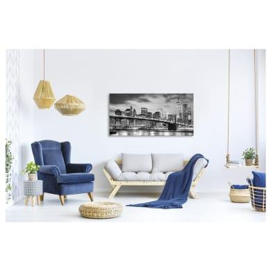 Quadro su tela Skyline New York grigio 140x70 cm