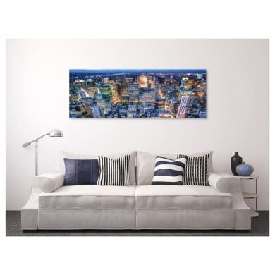 Quadro su tela New York illuminata 180x64 cm