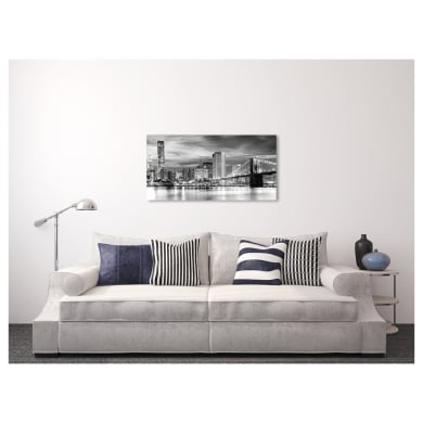 Quadro su tela New York cielo grigio 100x50 cm