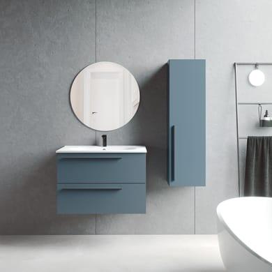 Mobile da bagno sotto lavabo L 80 x P 45 x H 55 cm in agglomerato blu