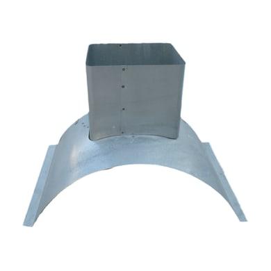 Controcappa zincata L 56 x P 40 x H 38 cm