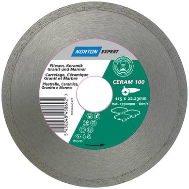 Disco diamantato continuo NORTON per taglio ceramica Ø 125 mm