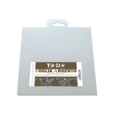 Carta da decoupage Foglia in metallo argento