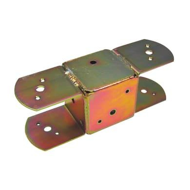 Giunto per gazebo a 2 vie in acciaio L 29.5x H 10