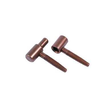 Cerniera ferro 55 x 48 mm Ø 14 mm 2 pezzi