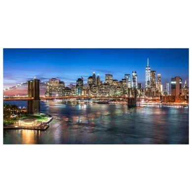 Quadro su tela Skyline New York 145x75 cm