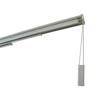 Binario per pannello giapponese singolo 3 vie Alu alluminio 170 cm bianco