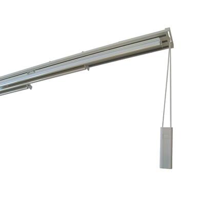 Binario per pannello giapponese singolo 5 vie Alu alluminio 280 cm bianco