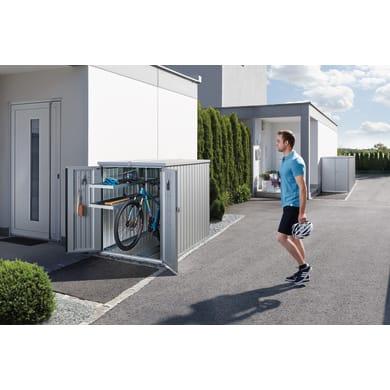 Garage per bici in alluminio BIOHORT 2.4 m²