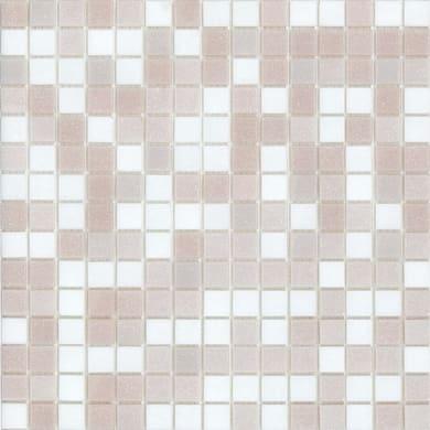 Mosaico Cipria H 32.7 x L 32.7 cm bianco e rosa