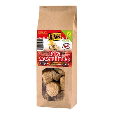 Accendifuoco vegan di legna naturale 550 gr