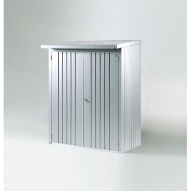 Legnaia in acciaio BIOHORT L 138 x H 1 x P 172.5 cm grigio / argento