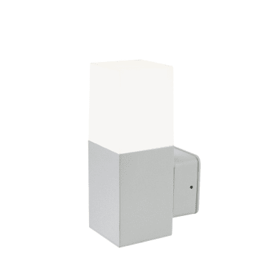 Applique Kube LED integrato in alluminio, alluminio, 7W 500LM IP65