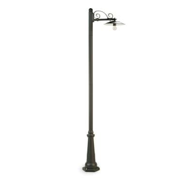 Lampione Antique H234 cm in alluminio, grigio, E27 1x MAX 25W IP43
