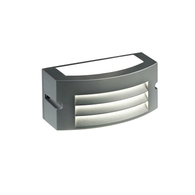 Applique Kobe LED integrato in alluminio, grigio, 10W 700LM IP65