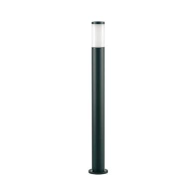 Lampione Fidel H100 cm in alluminio, nero, E27 1x MAX 25W IP43
