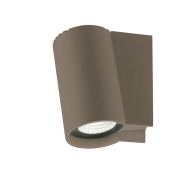 Applique Alpha LED integrato in alluminio, bronzo, 5W 230LM IP65