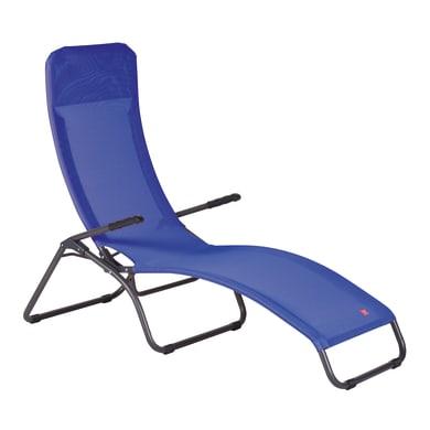 Sdraio pieghevole in acciaio Free colore antracite/blu
